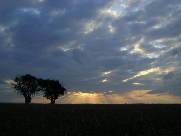 Por do sol em Canjarana. (11/10/2008)