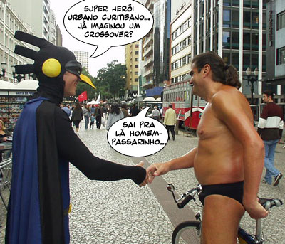 Super-Heróis curitibanos (Gralha e Oil Man).