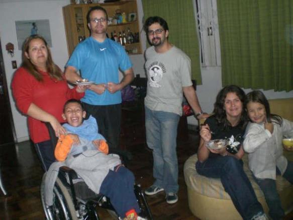 Com Joslaine, Mauricio, Leonardo e Adriana.