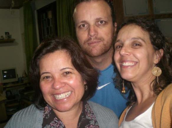 Com Swami e Paulinha.