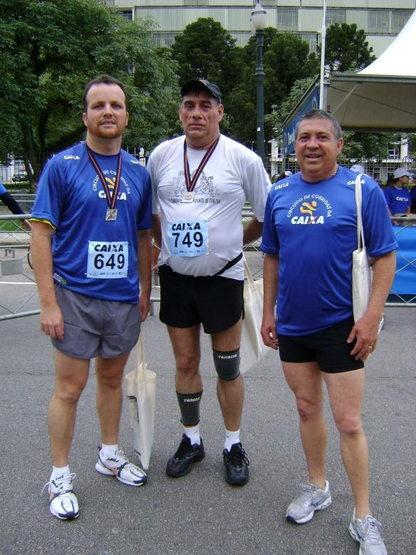 Após a corrida, com Jeferson e Dionisio.