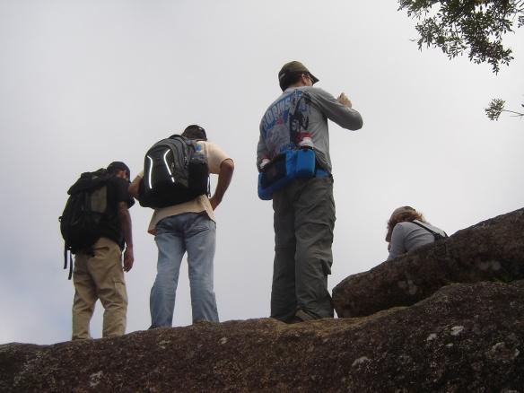 Cássio, João e eu, observando a paisagem.