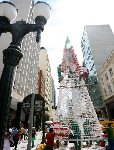 Árvore de Natal ecológica.