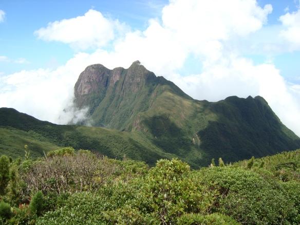 Vista do Pico Paraná, o ponto mais alto do Sul do Brasil.