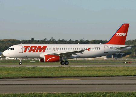 Airbus A320 da Tam, que me levará para casa no final da tarde.