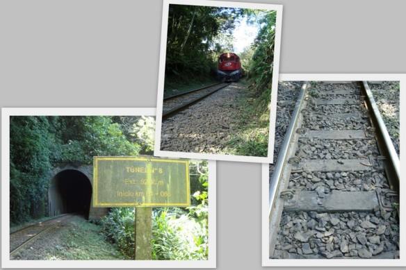 Trilho, tunel e trem...