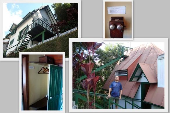 Casa, telefone, guarda roupas e ponte que leva ao terraço dos fundos. Ao fundo aparece uma escadinha que leva ao observatório. (12/05/2009)