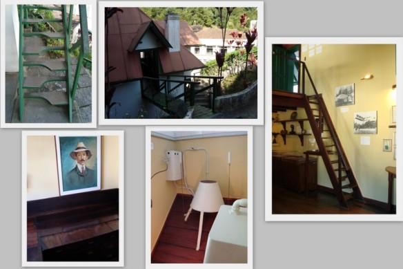 Escada da entrada, terraço, escada interna, escrivaninha/cama e chuveiro. (12/05/2009)