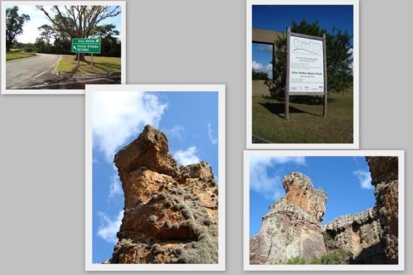 Entrada de Vila Velha e alguns arenitos.
