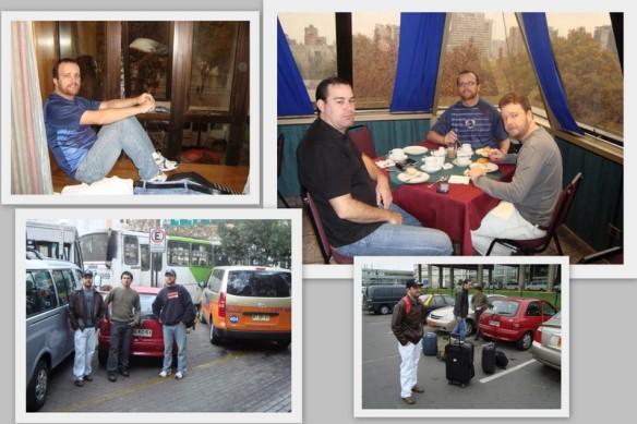 No hotel em Santiago. (25/05/2009)