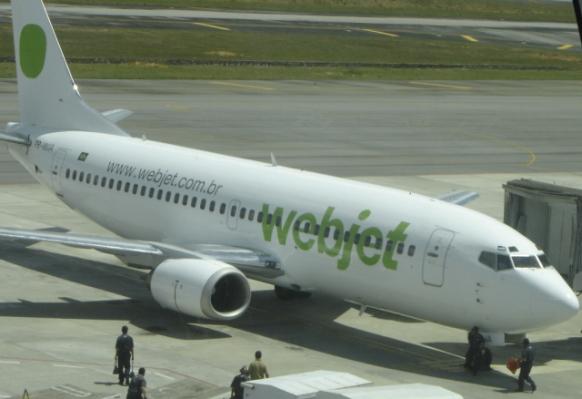 Boeing 737 da Webjet.
