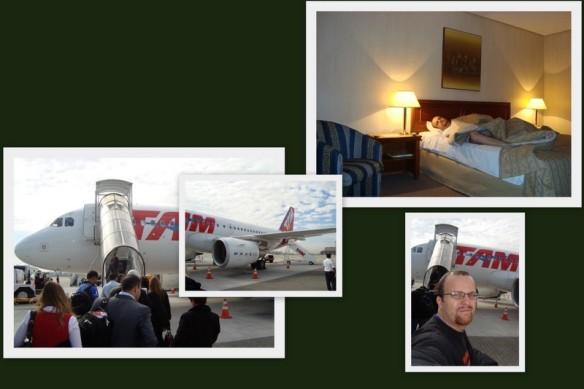 No Hotel em POA tentando dormir e embarque em Congonhas. (17/07/2009)