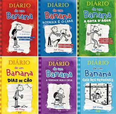 """Livros da série: """"Diário de um Banana"""""""