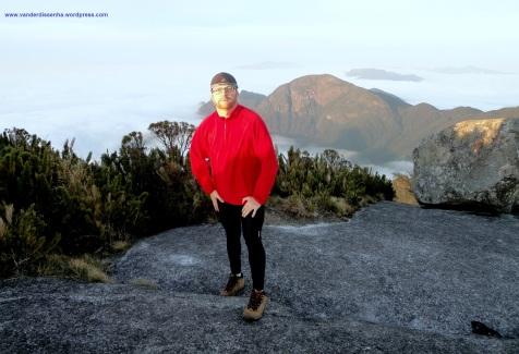 No cume do Pico Paraná.