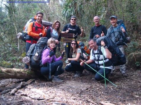Cruzamento de trilhas: Pico Paraná e Itapiroca.