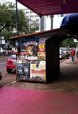 A Banca do Jonas já fechada. (Foto: Boca Santa)