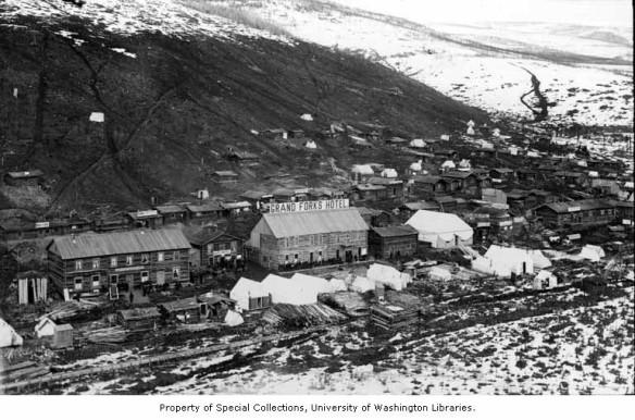Dawson City na época da Corrida do Ouro.