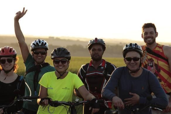 Ciclistas felizes...