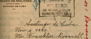 Carta de Fidel Castro. (Terceiro/O Globo)