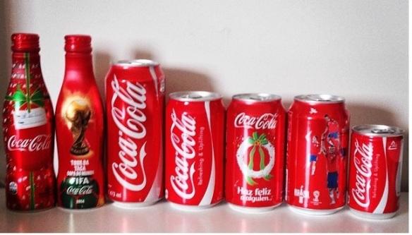Coca-Cola: Brasil, Brasil, México, Japão, México, Chile e Japão.