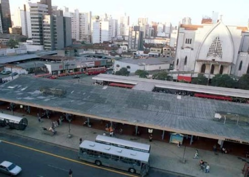 Vista aérea do Terminal Guadalupe.