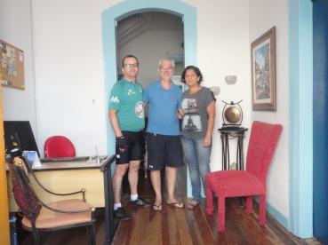 Com Rogério e Andrea.